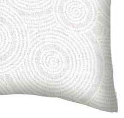 Percale Pillow Case - White On White Multi Circles