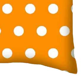 Percale Pillow Case - Polka Dots  Gold