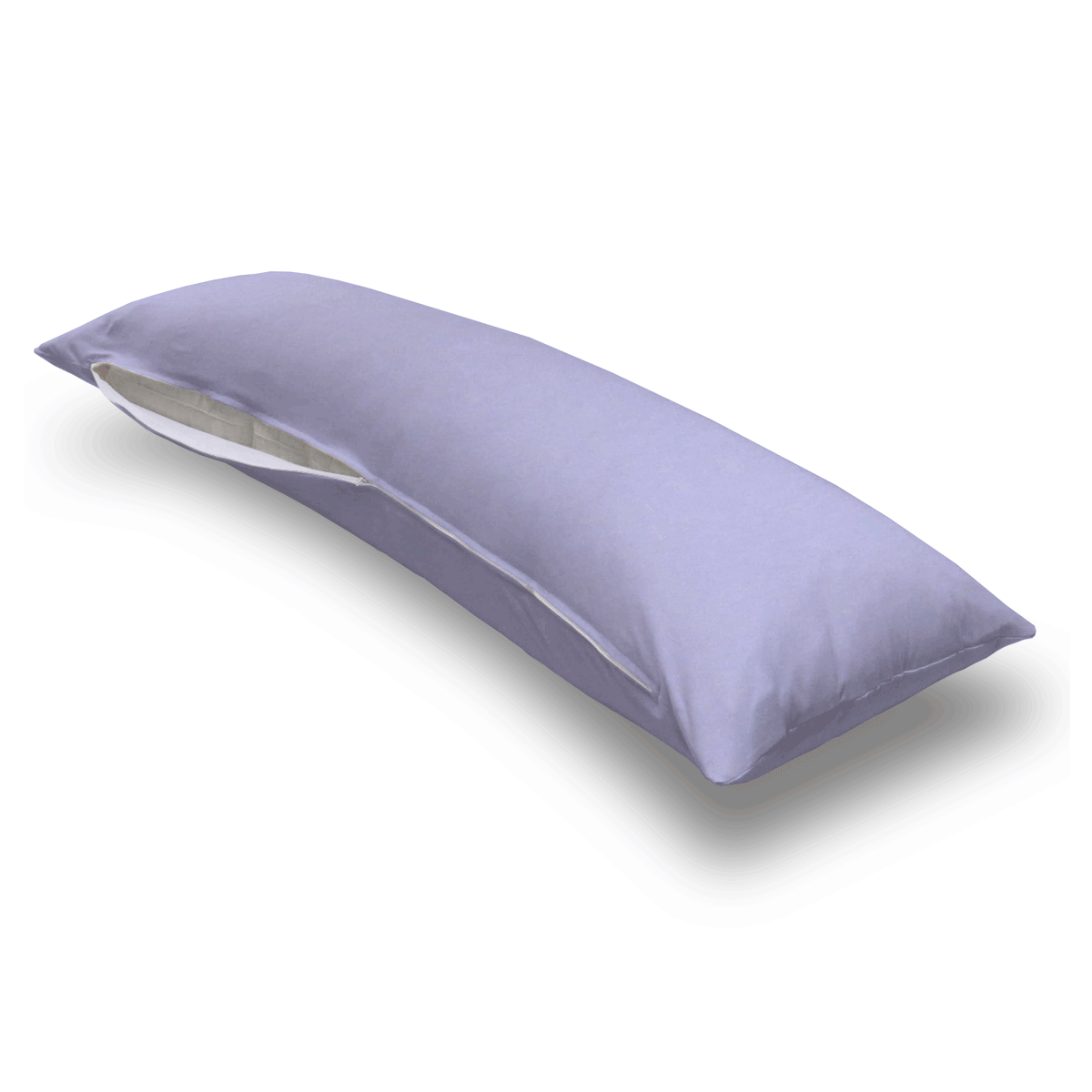 Solid Lavender Jersey Knit Body Pillow Case
