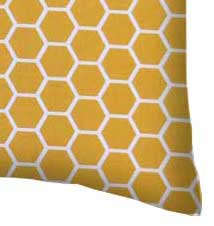 Percale Pillow Case - Mustard Yellow Honeycomb