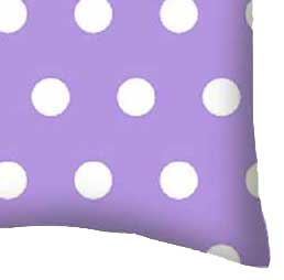 Percale Pillow Case - Polka Dots Lavender