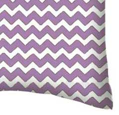 Percale Pillow Case - Lilac Chevron Zigzag