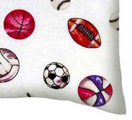 Flannel Pillow Case - Sports