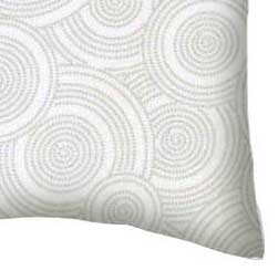 Percale Pillow Case - Grey Multi Circles