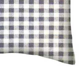 Percale Pillow Case - Grey Gingham Check