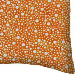 Percale Pillow Case - Confetti Dots Orange