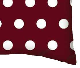 Percale Pillow Case - Polka Dots Burgundy