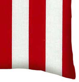 Percale Pillow Case - Red Stripe