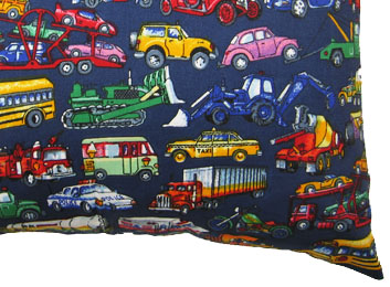 Percale Pillow Case - Vehicles Galore
