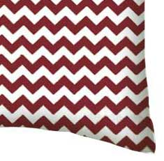 Percale Pillow Case - Burgundy Chevron Zigzag