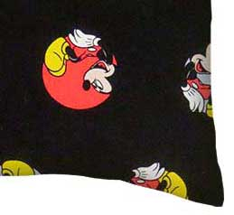 Percale Pillow Case - Mickey Mouse Circles