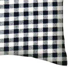 Percale Pillow Case - Navy Gingham Check