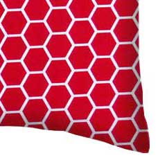 Percale Pillow Case - Red Honeycomb