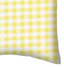 Yellow Gingham Jersey Portable Mini Crib Sheets