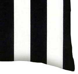 Percale Pillow Case - Black Stripe