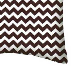 Percale Pillow Case - Brown Chevron Zigzag