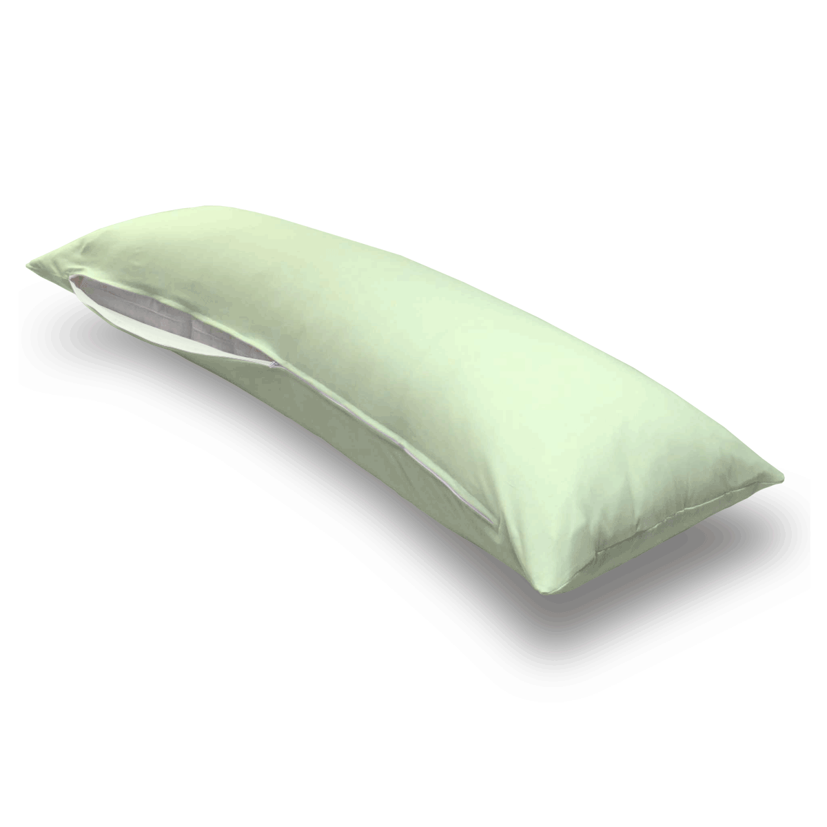 Soft Mint Jersey Knit Body Pillow Case